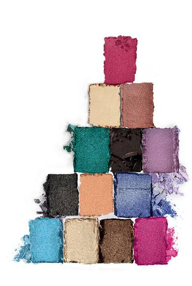 Texturabbildung The Graffiti Nudes Lidschatten Palette von Maybelline New York