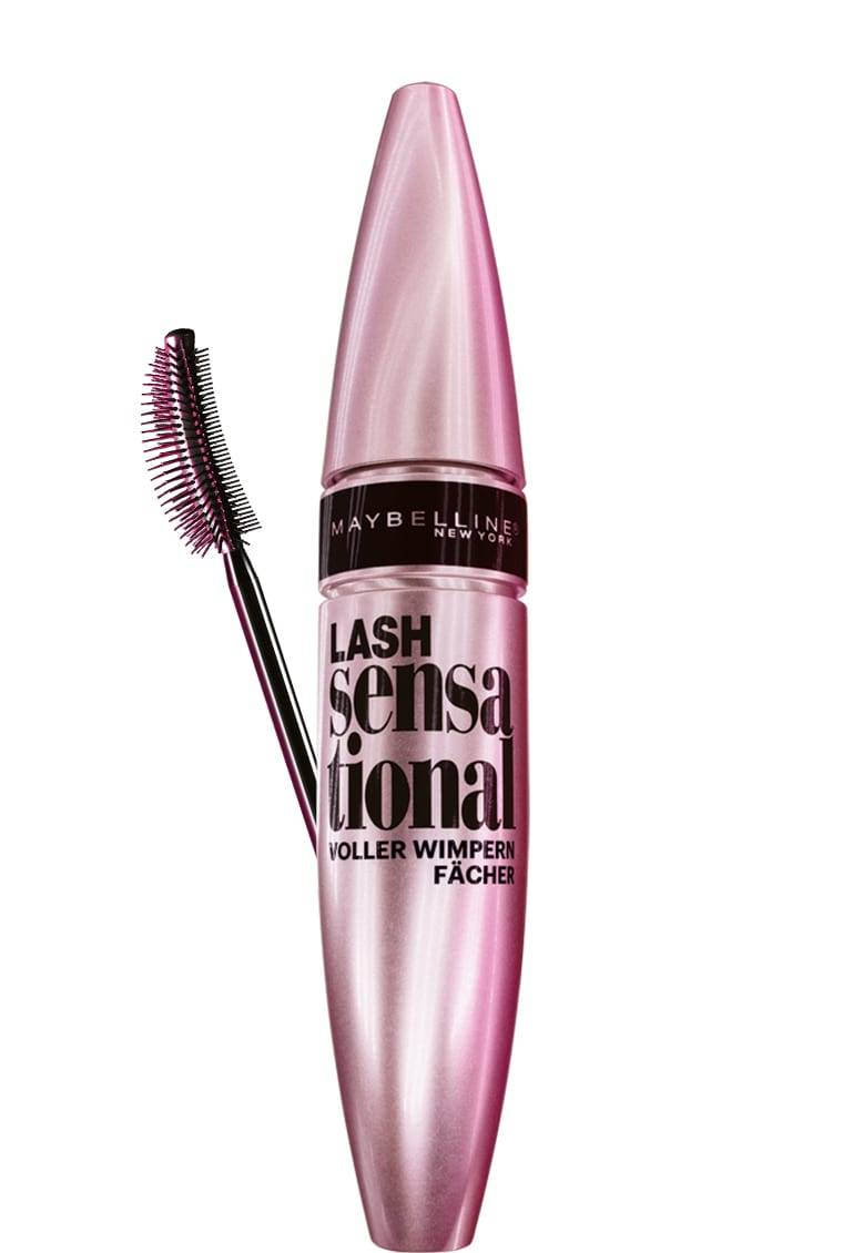lash sensational voller-wimpern-fächer mascara von maybelline new york