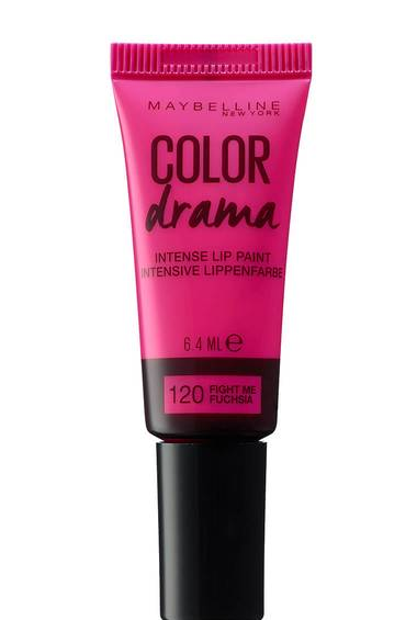 Color Drama Lip Paint Color Jolt in der Nuance 120, Fght Me Fuchsia von Maybelline New York